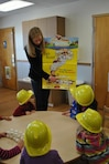 IWR staff member Kelly Barnes organized an educational outreach activity which introduced preschool children to basic engineering concepts through the American Society of Civil Engineers' Curious George Bridge Build, combining engineering and the popular children's cartoon character.