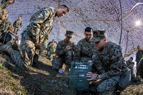 11th MEU Marines conduct Battle Skills Test