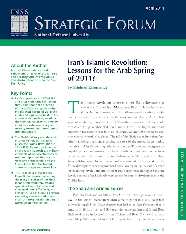 Iran's Islamic Revolution: Lessons for the Arab Spring of 2011?