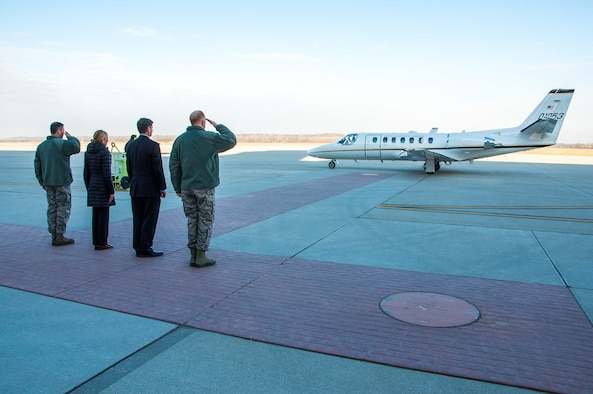 Under Secretary of the Air Force visits Wright-Patterson Air Force Base, Ohio.