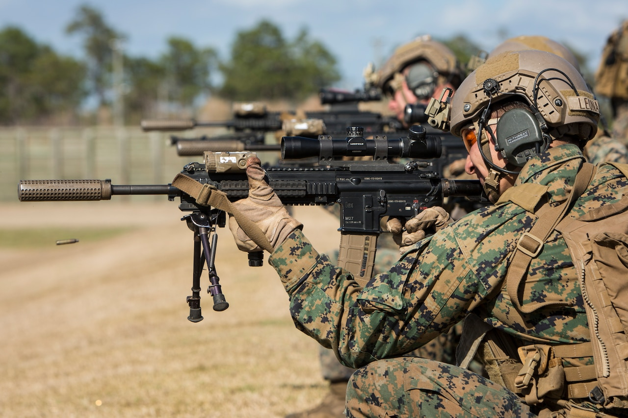 Marines with 3rd Battalion, 6th Marine Regiment, conduct a live-fire exercise.