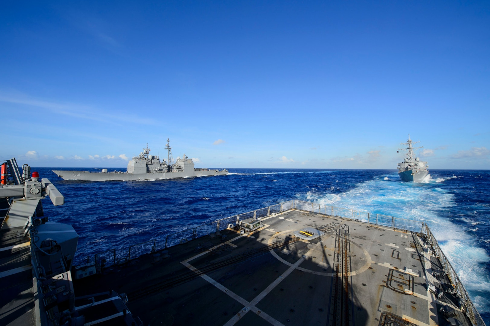 USS Mustin Sharpens Skills During MultiSail 18