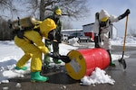 From March 8 -17, 2018, a multinational training and exercise event for Mine Safety Appliance, Self-Contained Breathing Apparatus (SCBA) maintenance and hazardous materials (HAZMAT) handling was facilitated by the Michigan Air National Guard at Alpena Combat Readiness Training Center, Alpena, Mich. The 80-hour HAZMAT curriculum, certified by the State of Michigan and the International Fire Service Training Association (IFSTA), was attended by five military firefighters from Latvia and two aircraft maintenance officers from Bulgaria.