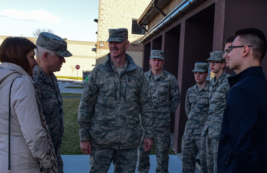 Air National Guard director and command chief visit 193rd Special Operations Wing