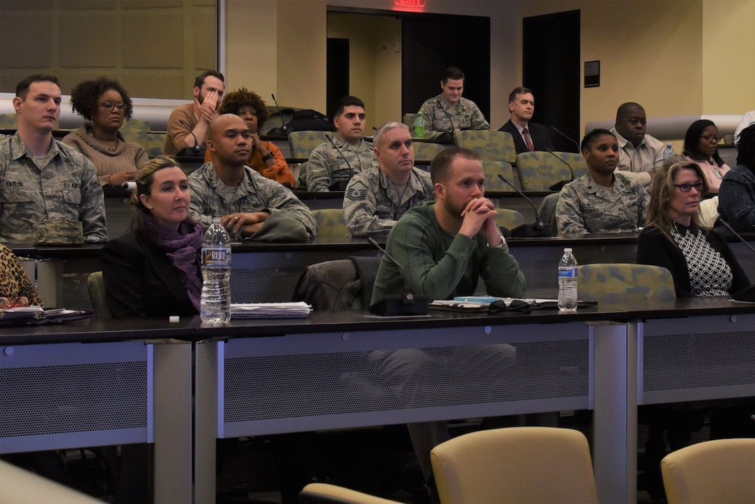 A town hall meeting was held on Joint Base Andrews on March 9. The forum helped illuminate new trends and initiatives impacting services acquisitions and addressed how services enable the Air Force mission.