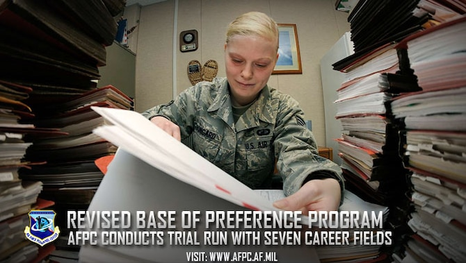 Revised BOP program; AFPC conducts trial run with seven career fields