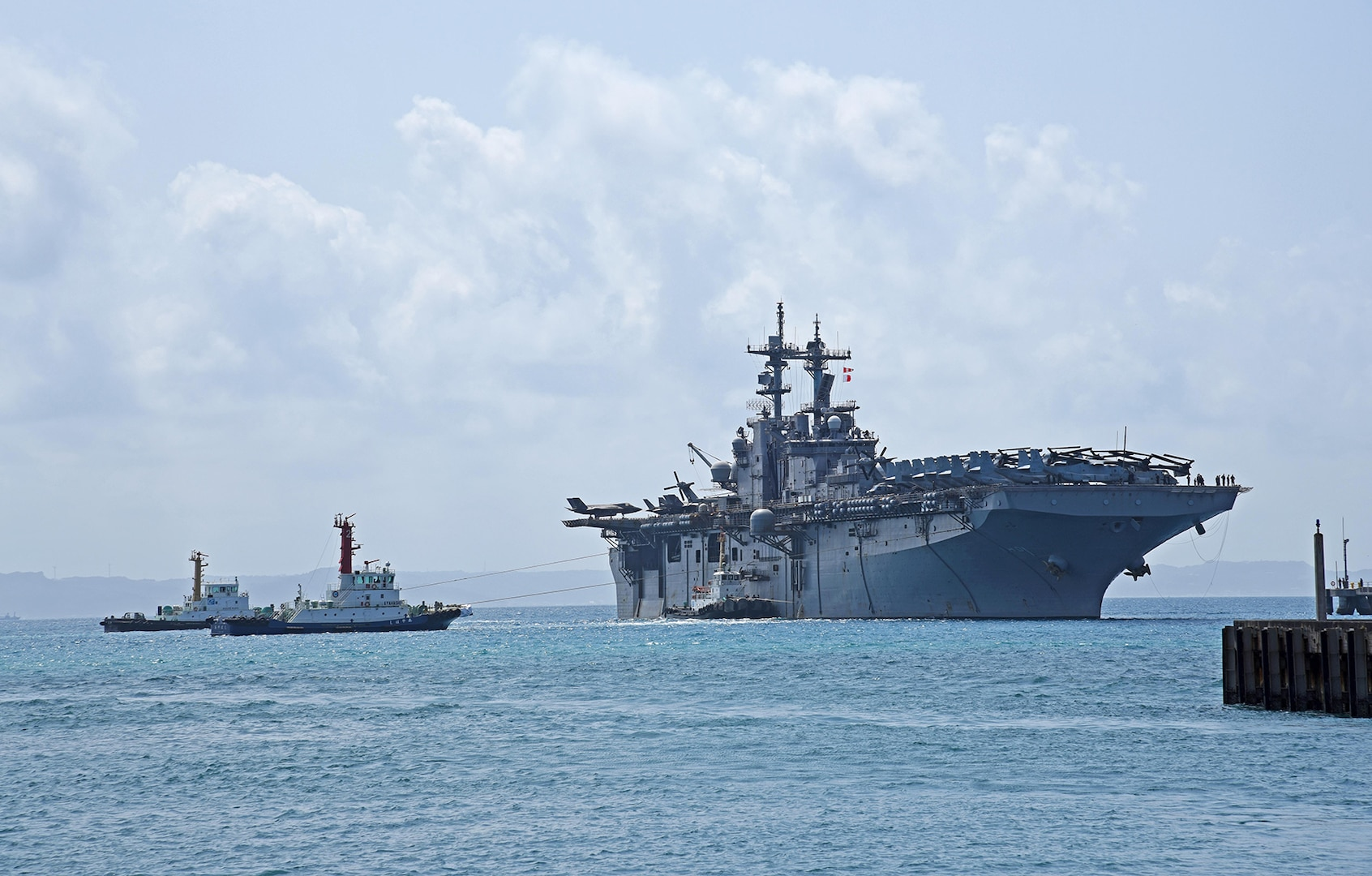 USS Wasp Arrives in Okinawa After Completing Series of Flight Operations with F-35B Lightning