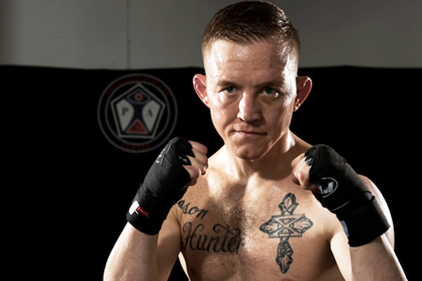 Colton Smith, MMA fighter. Photo by Sgt. James K. McCann