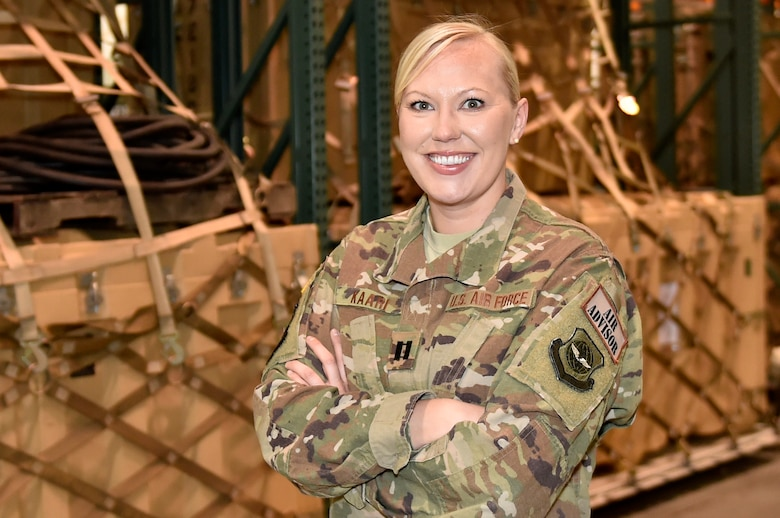 Capt. Stephanie Kaari a Logistics Officer assigned to the 571st Mobility Support Advisory Squadron, at Travis Air Force Base, Calif., recently received notification she was selected to attend the 2018 United Nations Logistics Officer Course in Bangladesh starting this fall. The board considered 30 applicants before selecting Kaari to be the first U.S. Air Force representative to attend the UN Logistics Officer Course. The course prepares participants for work in all aspects of logistics in a UN operation, including the ability to differentiate between national and UN logistic responsibilities. (U.S. Air Force photo by Teach. Sgt. Liliana Moreno/Released)