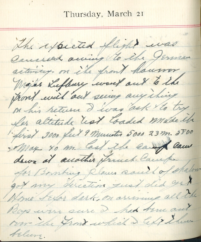 Eddie V  Rickenbacker WWI Diary > National Museum of the US