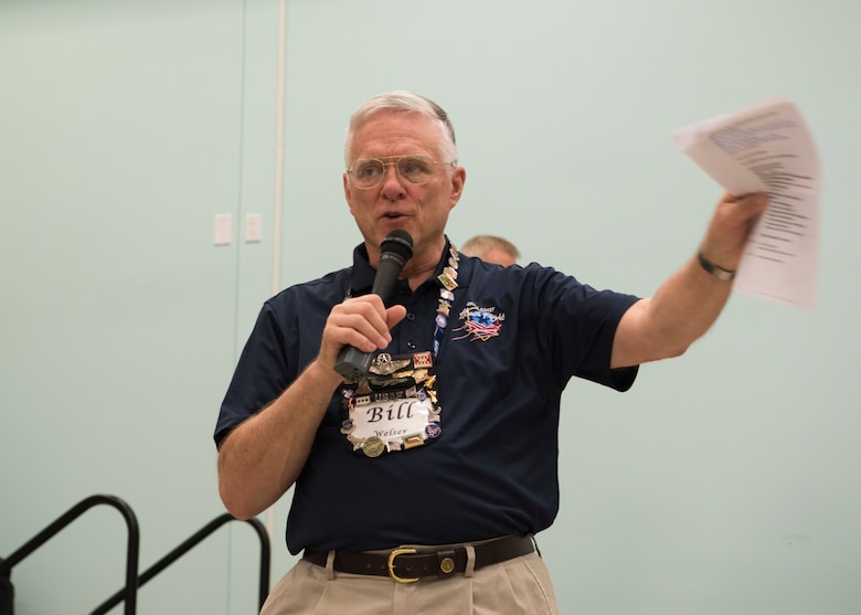 Lt. Gen. (Ret.) Bill Welser, president of Space Coast Honor Flight, address veterans, March 17, 2018 at Wickham Park Senior Center, in Melbourne Fla. Honor Flight, a non-profit organization, was started in 2005 and they provide an opportunity for veterans of all branches of service, from throughout the country, to visit and reflect on the memorials in Washington D.C.