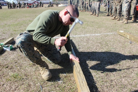 On March 15, 2018 Marine Corps Engineer School (MCES) hosted the annual St. Patrick's Day Engineer Field Meet to pay homage to St. Patrick, the patron saint for engineers; build camaraderie amongst the engineer and utility communities, and compete for the Engineer Field Meet Trophy.