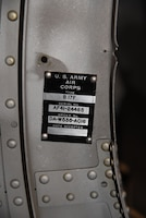 (02/26/2018) -- View of a data plate in the Boeing B-17F Memphis Belle. Plans call for the aircraft to be placed on permanent public display in the WWII Gallery here at the National Museum of the U.S. Air Force on May 17, 2018. (U.S. Air Force photo by Ken LaRock)
