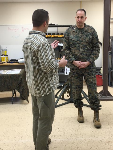 Senior Marine Corps Leader Visits Nswc Crane Naval Sea Systems