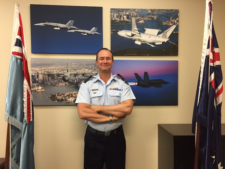 Wing Commander Andy State of Australia serves as chairman of the Foreign Liaison Officers, part of the Air Force Life Cycle Management Center's Air Force Security Assistance and Cooperation Directorate, headquartered at Wright-Patterson Air Force Base. (Skywrighter photo/Amy Rollins)