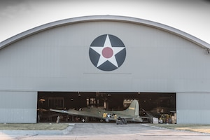 (03/14/2018) -- The B-17F Memphis Belle moves along the tow path into the WWII Gallery at the National Museum of the United States Air Force on March 14, 2018. Plans call for the aircraft to be placed on permanent public display in the WWII Gallery here at the National Museum of the U.S. Air Force on May 17, 2018. (U.S. Air Force photo by Kevin Lush)