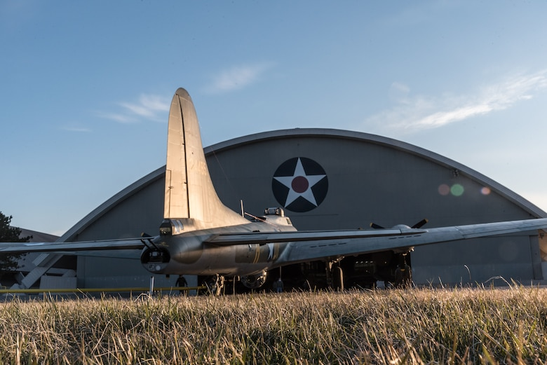 (03/14/2018) -- The B-17F Memphis Belle being moved into the WWII Gallery by restoration crews. Plans call for the aircraft to be placed on permanent public display in the WWII Gallery here at the National Museum of the U.S. Air Force on May 17, 2018. (U.S. Air Force photo by Kevin Lush)