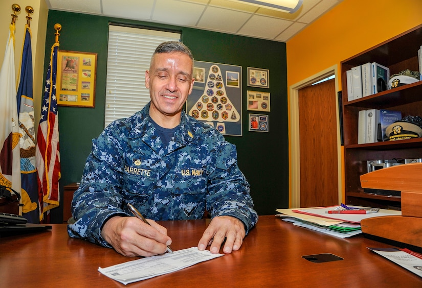 Naval Health Clinic Charleston Commanding Officer Capt. Dale Barrette signs a donation form for the Navy and Marine Relief Corps Society fund drive March 14 at NHCC. Last year, Charleston NMCRS received $247,751 in donations and provided $288,151 in financial assistance to 360 clients.  The current fund drive began March 1 and will run through April 15, 2018.  For more information, or to make a contribution online, visit the NMCRS of Charleston at http://nmcrsfunddrive.org/charleston/ <http://nmcrsfunddrive.org/charleston/> .