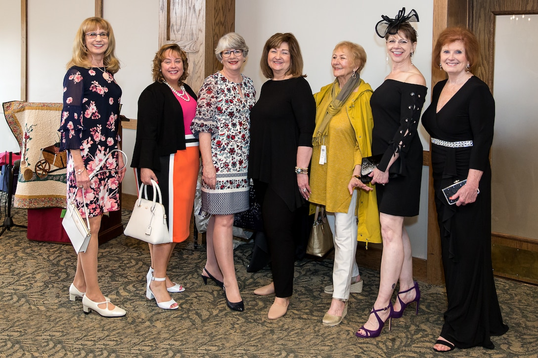AEDC Woman's Club meeting participants pause for a photo with fashion stylist Dorene Briggs with Dillard's of Cool Springs Galleria, Franklin, March 1 at the Lakewood Country Club in Tullahoma. Pictured left to right are Joan Hartvigsen, Diane Gawrys, Susan Harris, Briggs, Susan Lewis, Gale Klingelhoets and MaryEtta Ward. (Courtesy photo)