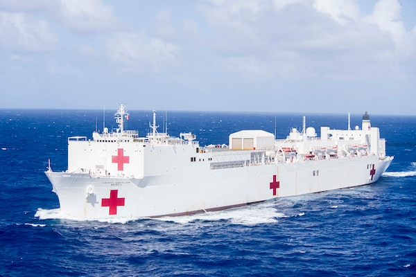 Mercy stops in Guam en route for Pacific Partnership