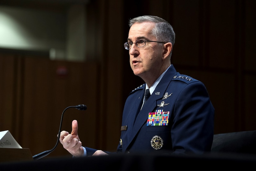 Air Force four-star general testifies at Senate hearing.