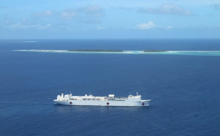 USNS Mercy Delivers Medical Supplies to Ulithi Atoll