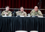 FORT EUSTIS, Va. -- U.S. Army Col. Eric Oh lends his perspective during the 2018 Defense Chemical, Biological, Radiological and Nuclear Response (DCRF) Commanders Conference at the Jacob's Conference Center at Fort Langley Eustis, Va. The three-day conference allowed Joint Task Force Civil Support (JTF-CS) and DCRF leadership to review how thousands of military service members would respond to a catastrophic disaster in the U.S, whether manmade or natural.  JTF-CS provides command and control for designated Department of Defense specialized response forces to assist local, state, federal and tribal partners in saving lives, preventing further injury, and providing critical support to enable community recovery.