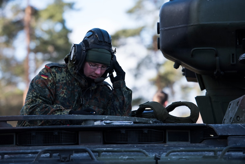 Tactical Air Control Party members assigned to the 4th Air Support Operations Group Detachment 1, participated in the U.S. Army led exercise Dynamic Front 18, held Feb. 23-March 10, 2018, at U.S. Army Garrison Bavaria, in Grafenwohr, Germany.