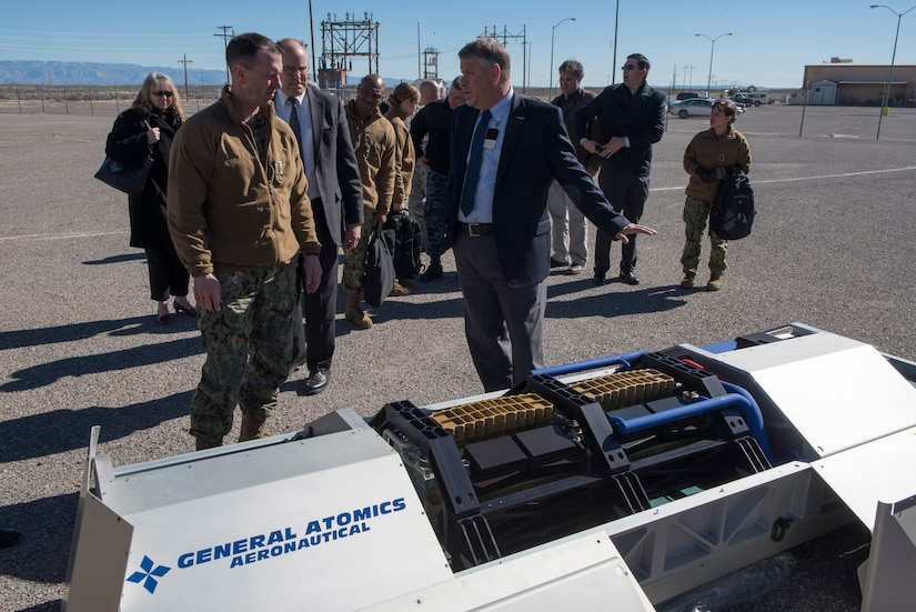 Chief of Naval Operations Adm. John Richardson inspects new technologies