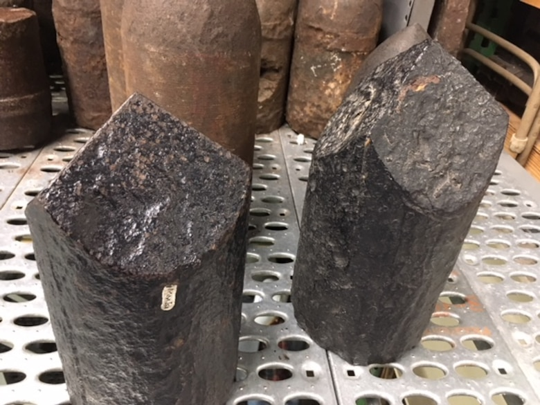 Shells used to destroy ironclad vessels during the Civil War.