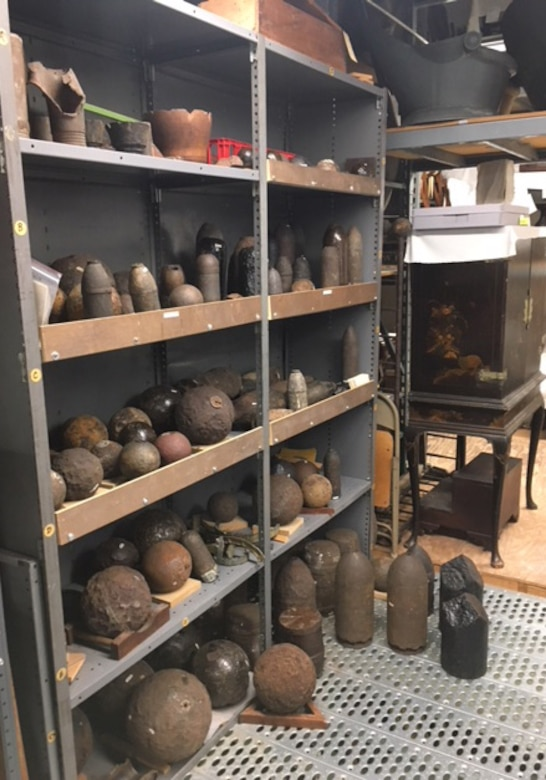 Charleston Museum Civil War ordnance collection.