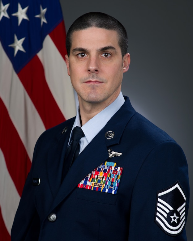 Senior Master Sgt. Sebastian DeAngelis, official photo, U.S. Air Force
