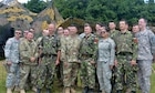 Romanian leaders host a traditional Romanian meal for leaders of the 5th Battalion, 113th Field Artillery Regiment