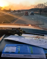 Captain Sean Edwards, Firefighter, 138th Fighter Wing, captures image of wildfires while in transit to the Tulsa Area Firefighter's Mutual Aid (TAFMA) Task Force 1.