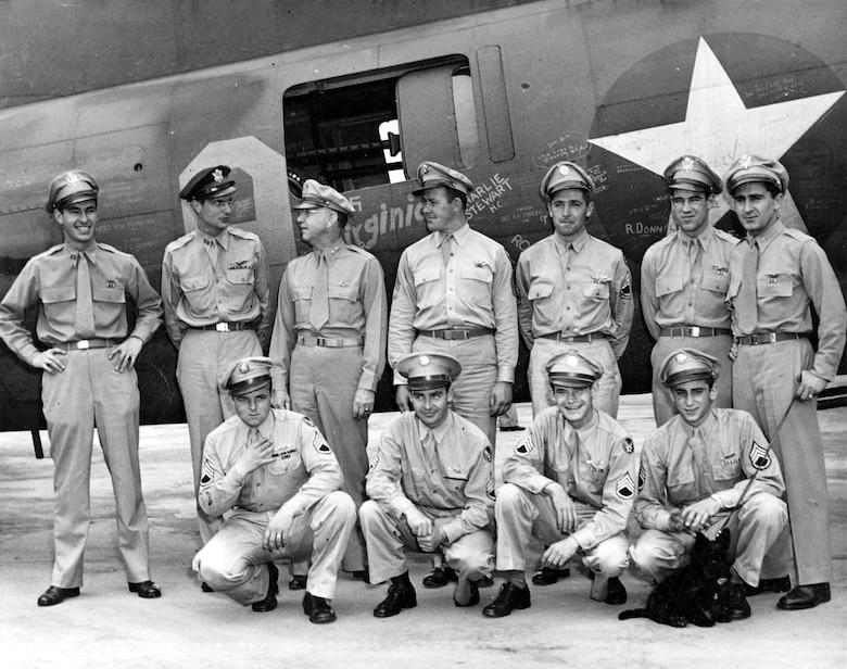 Memphis Belle crew on the war bond tour.