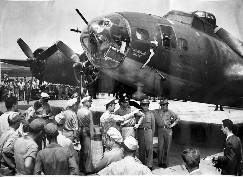 Memphis Belle at one of the war bond tour stops.
