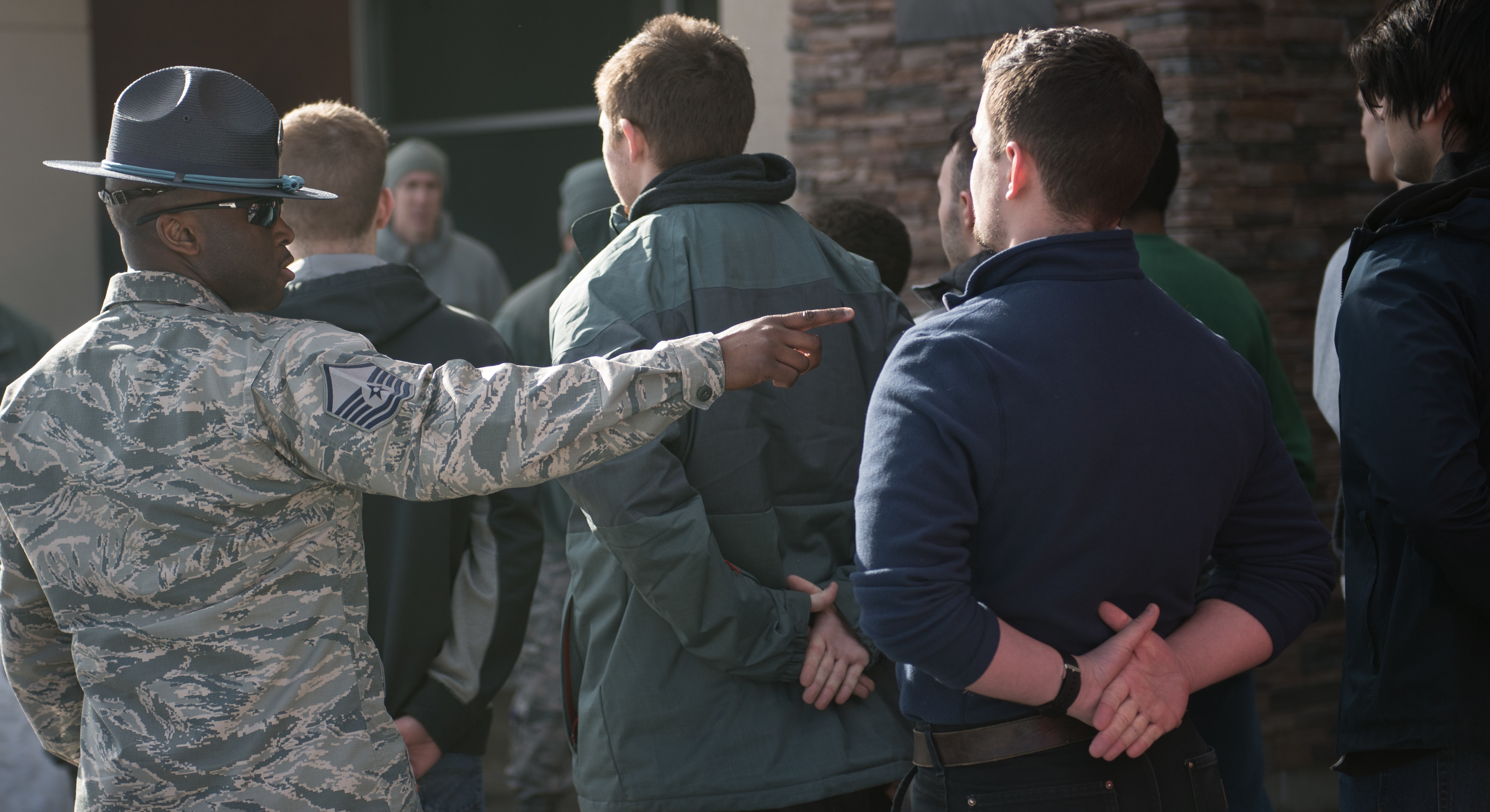 Future Airmen Get Taste Of Bmt Guidance From Leadership