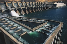 The fish ladder at John Day Lock and Dam allows adult fish to migrate upstream of the dam on their own. These are important aspects of the U.S. Army Corps of Engineers' fish passage facilities as they allow fish to travel at all times.
