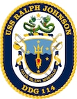 The seal of the USS Ralph Johnon.