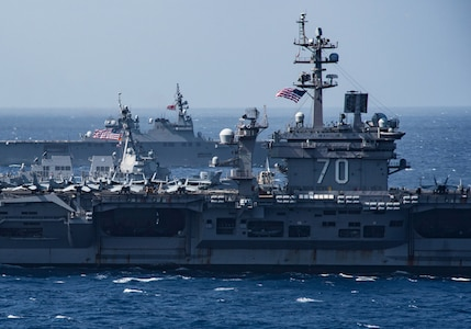 Carl Vinson Completes Bilateral Exercise with Japan