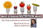 National Nutrition Month - Starr Seip