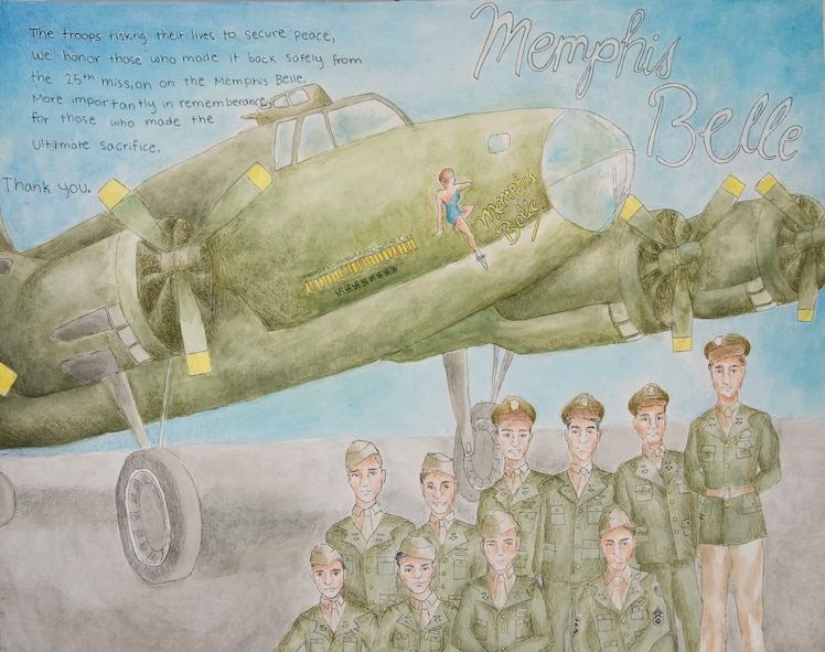 More than 60 pieces of art created by local students from schools across the Miami Valley will be on display at the National Museum of the U.S Air Force during the 35th Annual Student Aviation Art Competition and Exhibition. The exhibit will be open from April 7-May 6, 2018. This artwork is from grades 7-9 category and is by M. Wellmeier of Mad River Middle School. (U.S. Air Force photo)