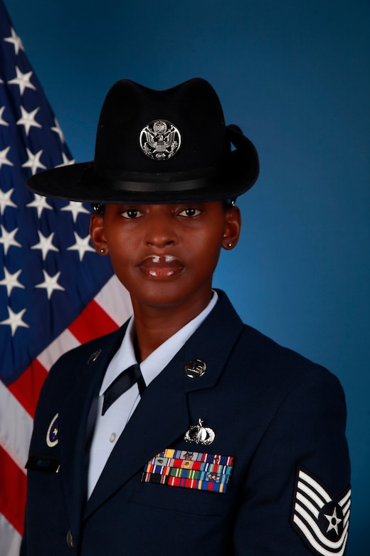 Tech. Sgt. Courtne, the first female enlisted pilot for
