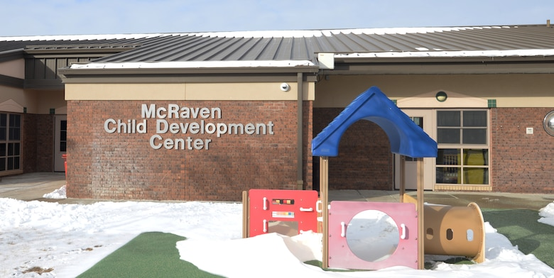 The McRaven Child Development Center is one of the base-affiliated childcare options available to military families stationed at Ellsworth Air Force Base, S.D. The CDC provides childcare services for 145 of the base's youth. (U.S. Air Force photo by Airman 1st Class Thomas Karol)