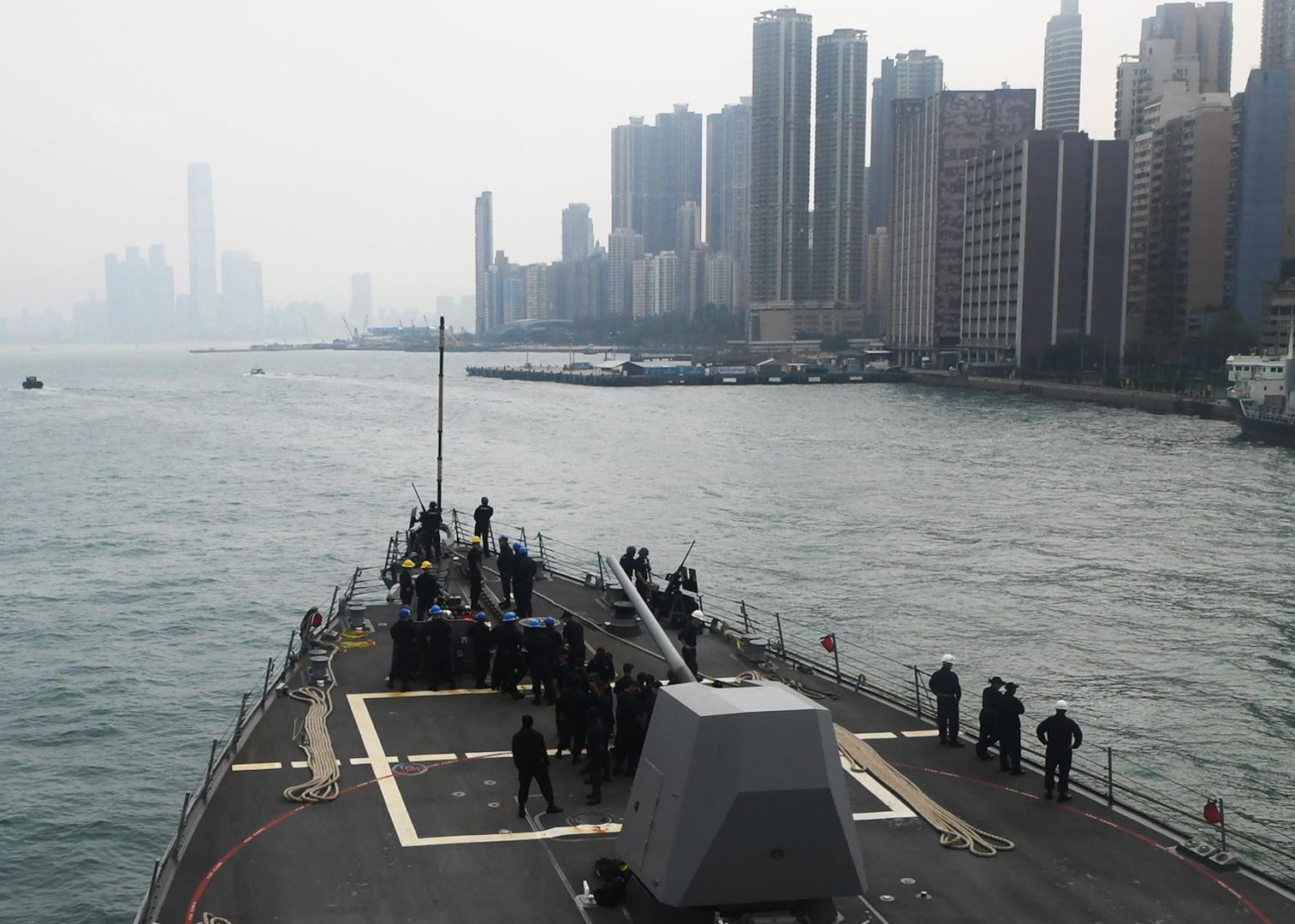 Sterett visits Hong Kong during 7th Fleet deployment
