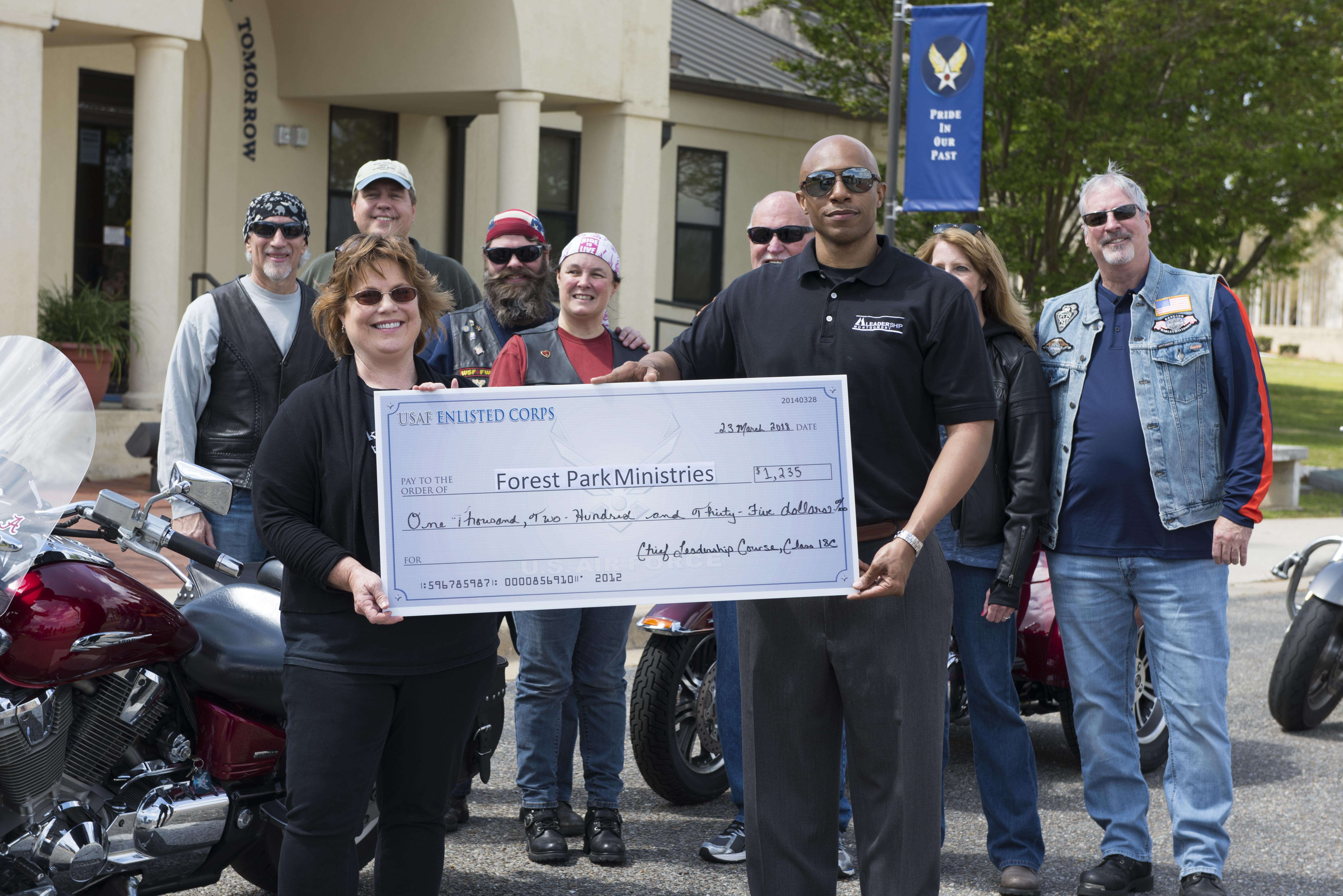 Members of the Air University community raise money for ...