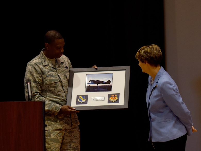 First female spacecraft commander visits Dyess