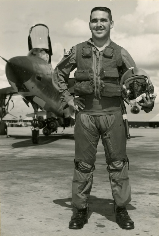 1st Lt. David Thomas Dinan III, F-105 Thunderchief pilot, poses in an undated photo. Dinan was killed March 17, 1969 as his aircraft was shot down by enemy fire. Thanks to the perseverance of his former roommate and the Defense POW/MIA Accounting Agency, Dinan's remains have been identified and returned to the United States after nearly 50 years in a Laos jungle. His funeral is set for April at Arlington Nation Cemetery.