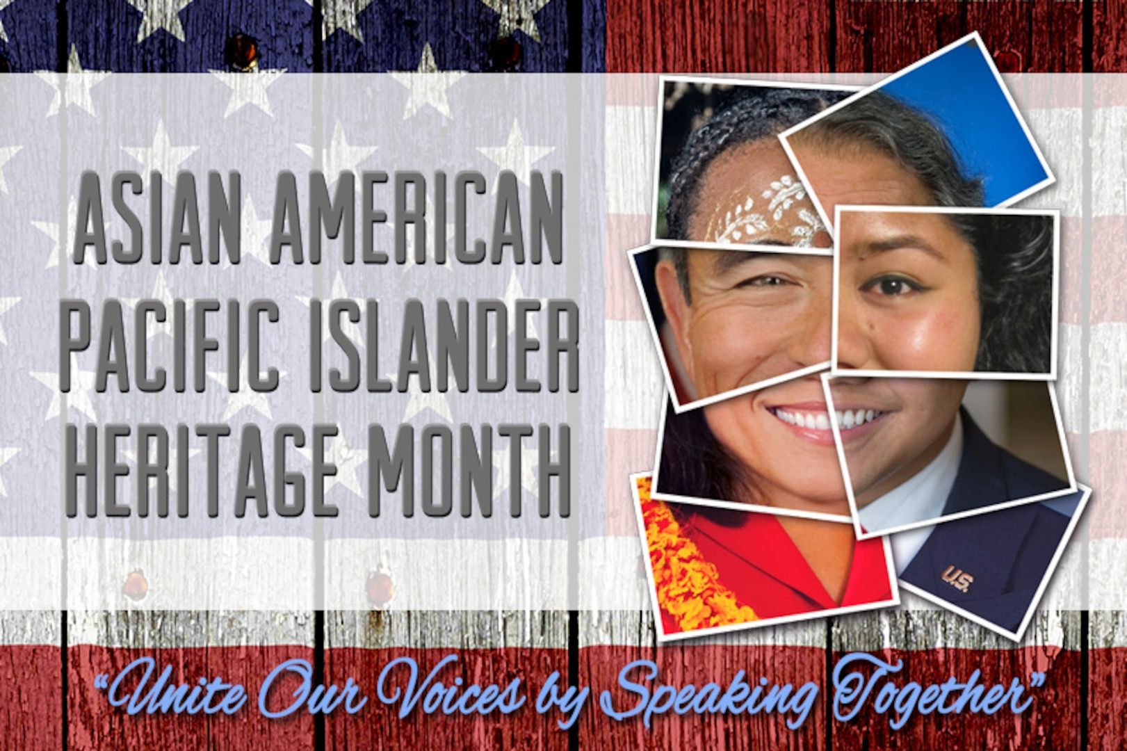 collage of images making the shape if an Asian American face.