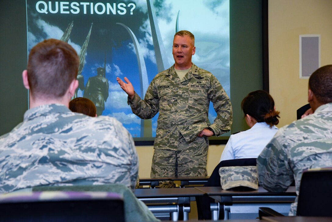 Students engage with Joint Base Andrews, Md., and Joint Base Anacostia-Bolling, D.C., leadership during their tour of the National Capital Region March 21-23, 2018